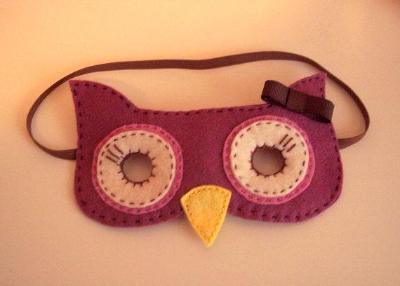 Felt Owl Mask Children Dress Up by pixieandpenelope on Etsy, $12.00