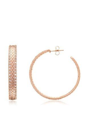 68% OFF Belargo Basket Weave Hoop Earrings