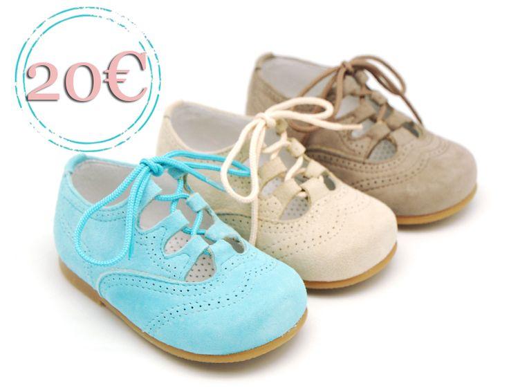 Tienda online de calzado infantil Okaaspain. Zapatos tipo inglés de ante con cordones. Calidad al mejor precio hecho en España. Envíos 24,48 horas laborables gratis.