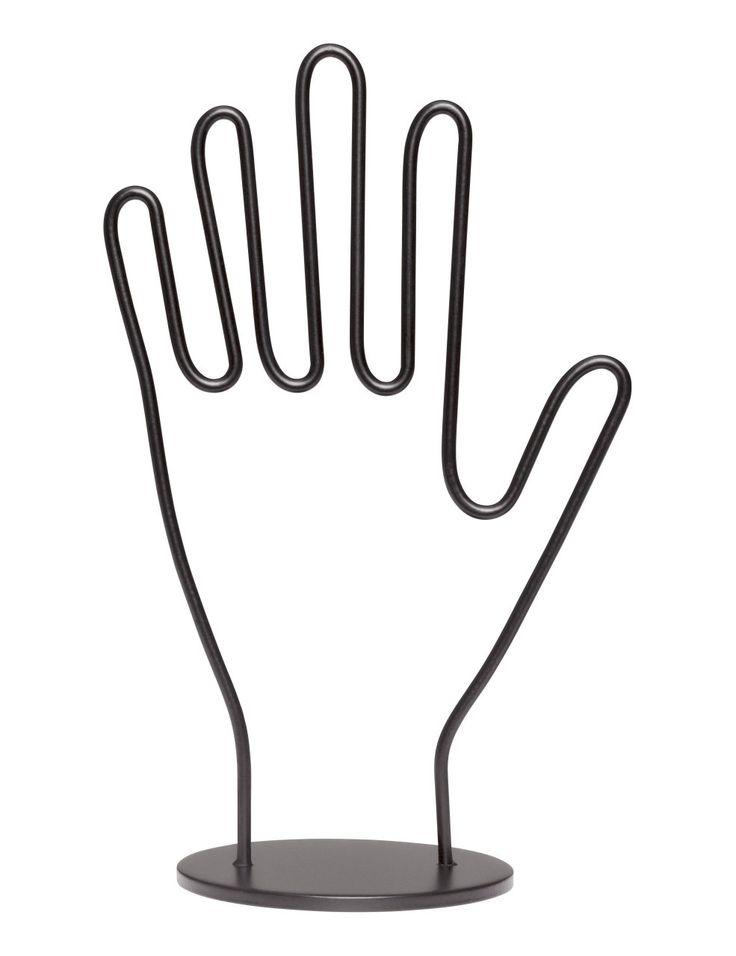 Check this out! Smykkestativ i metal formet som en hånd. Højde 17,5 cm, bredde ca. 10 cm.  – Gå ind på hm.com for at se mere.