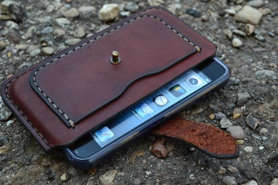 Case for iPhone 6 Handmade Leather iPhone 6 Pouch / by sergklim