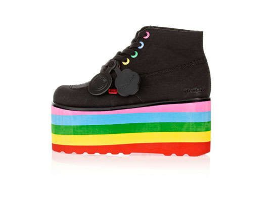 The Lazy Oaf x Kickers Shoe Collection is Limited Edition #rainbow #fashion trendhunter.com