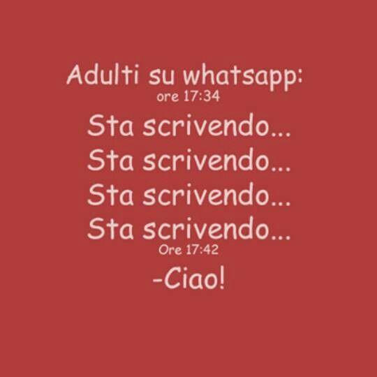 Adulti su WhatsApp