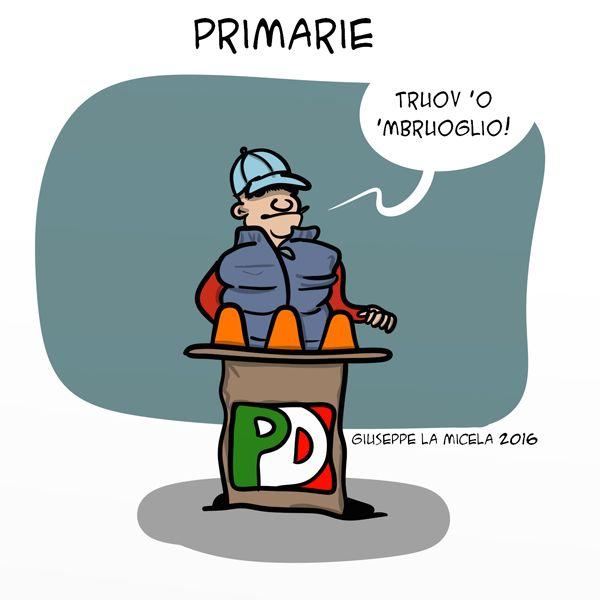Primarie a Napoli... #IoSeguoItalianComics #Satira #Politica #primarie #PD #napoli