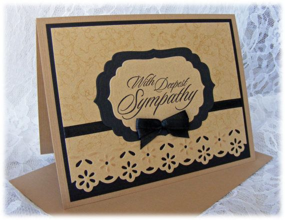 Elegant Handmade Sympathy Card with in warm, calming colors