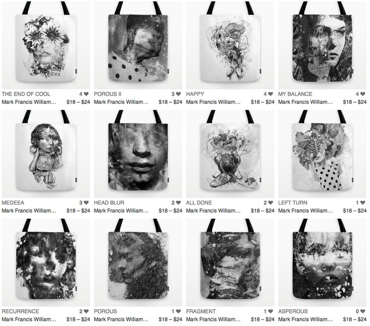 Tote Bags By Mark Francis Williams #society6 #wearable art