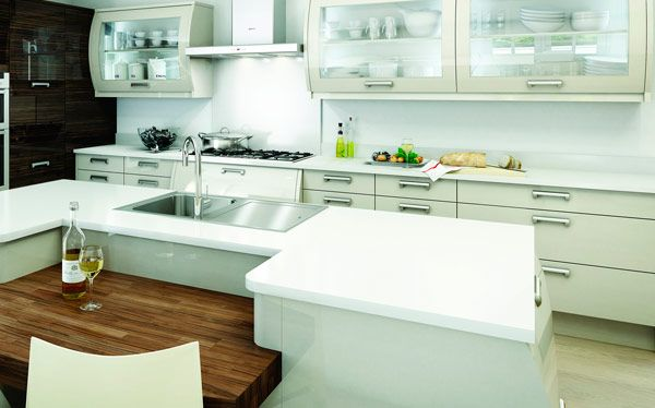 Modern kitchen ideas with curved units