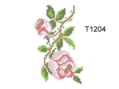 """Roses in the Cross Stitch Technique"" 