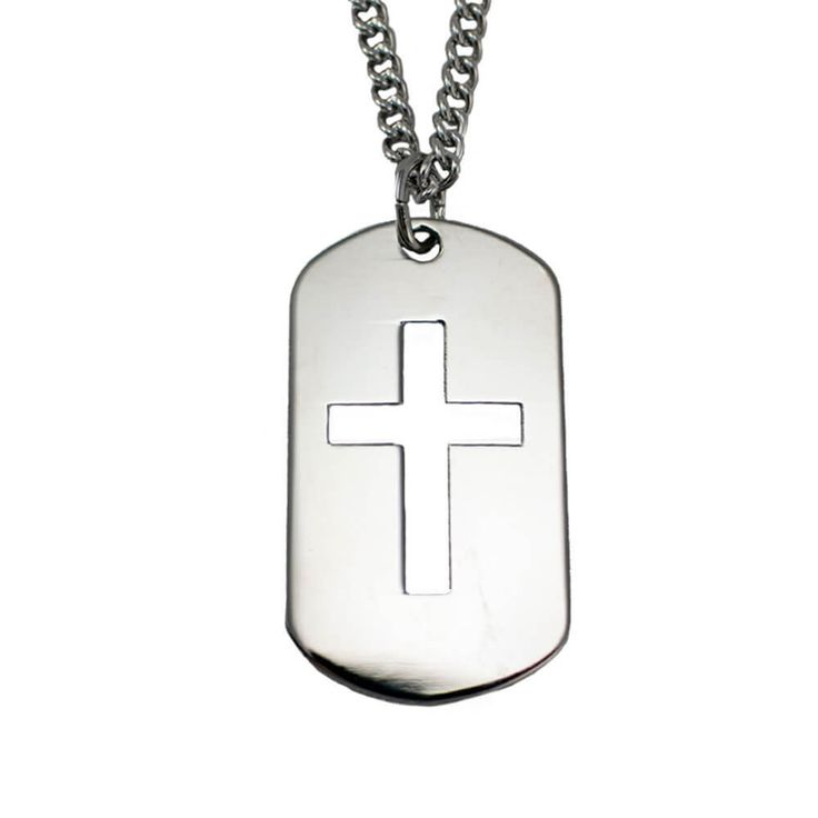 Shields of Strength - Stainless Steel Cross Cut Out Necklace-Phil 4:13, $49.99 (https://www.shieldsofstrength.com/stainless-steel-cross-cut-out-necklace-phil-4-13/)
