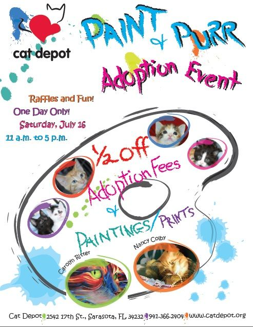 Paint and Purr Adoption Event