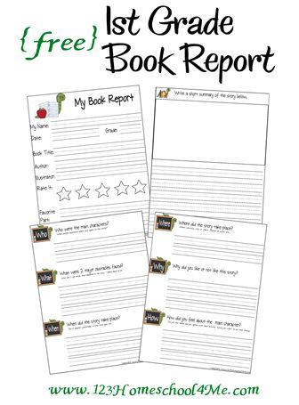 Educational Freebie: 1st Grade Book Report Printables