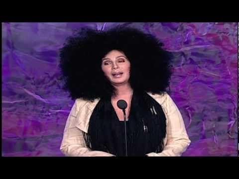Cher presents Chaz Bono with GLAAD award