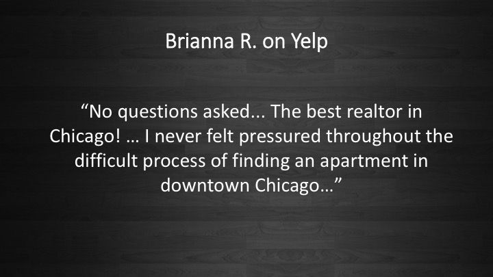 People love us on Yelp! #RealEstate #Realtor #Chicago #VaroRealEstate #ForRent #Rental #Apartment #Downtown #Renting