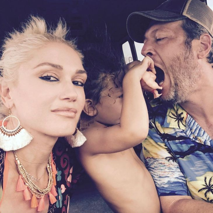 For Gwen Stefani, it's nothing but a family affair. The hit maker and celebrity mom recently shared a new photo of her long-term boyfriend, Blake Shelton, sharing a very special moment with her son, Apollo. The two appeared to be playing with each other with Gwen inside their car. She captioned the