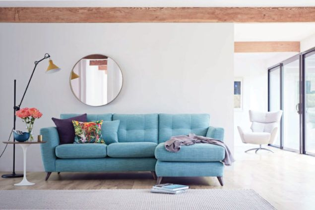 Holly Blue corner sofa from The Lounge Co