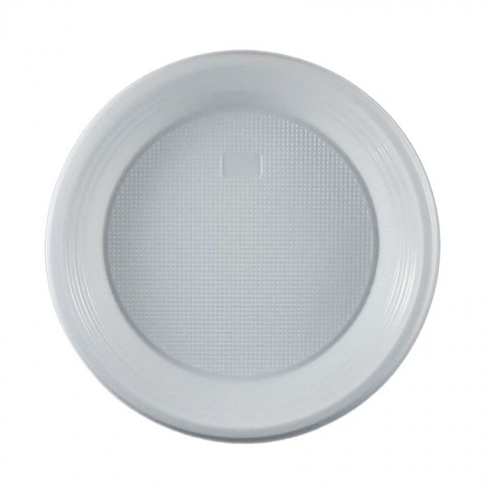 Πιάτο πλαστικό λευκό  21 cm μιας χρήσης | Εφοδιαστική