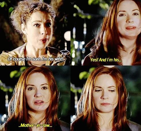 Amy's reaction is priceless. that awkward moment when you realize you're your best friends mother in law...