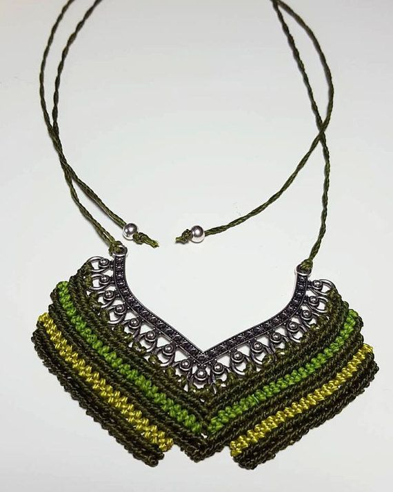 Check out this item in my Etsy shop https://www.etsy.com/listing/471970012/macrame-necklace