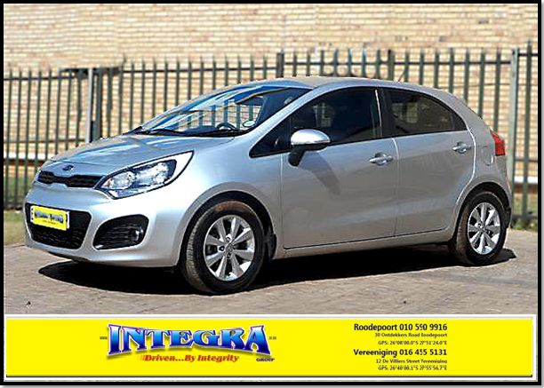 Spoil yourself or your loved one`s this festive season with this stunning 2012 Kia Rio 5dr, low mileage, stunning drive away... For more info kindly Contact Integra Motors on 010 590 9916