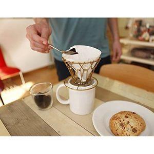 Kikkerland Brass Collapsible Coffee Dripper - Single Serve Coffee Maker