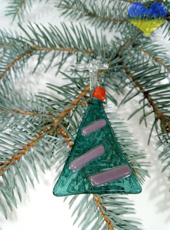 Fused Glass Christmas Ornaments Holiday Glass Decor