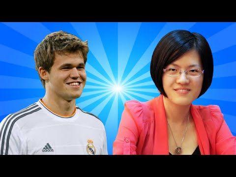 ▶ Magnus Carlsen vs Hou Yifan - World Chess Champion vs Women's World Chess Champion - YouTube
