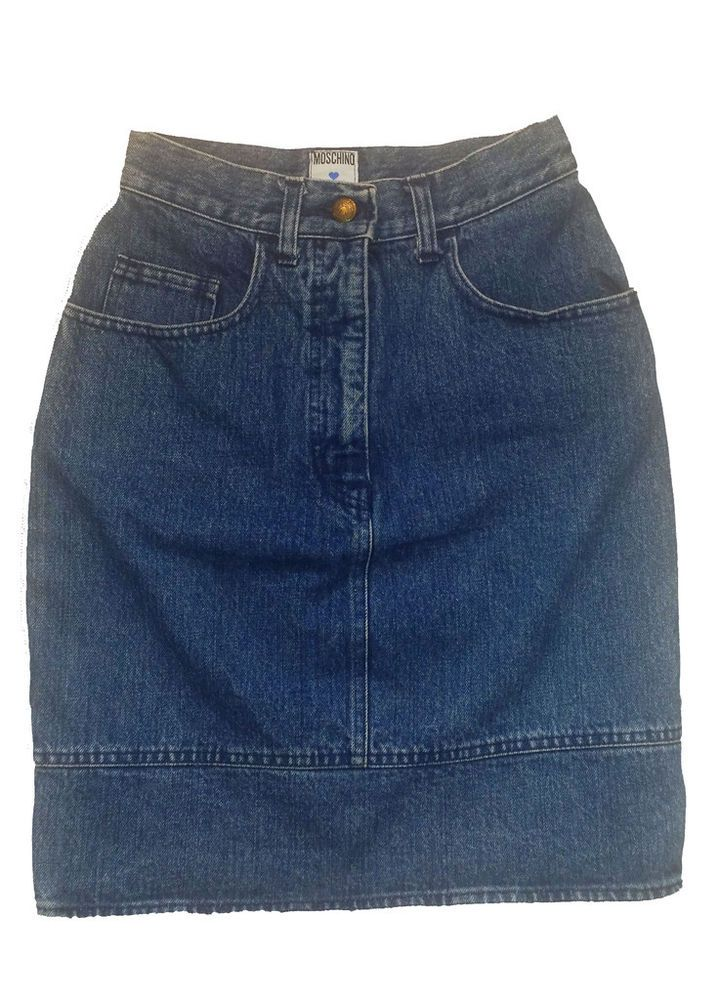 gonna donna jeans moschino usata vintage skirt woman used cod.NFG0602 taglia 40
