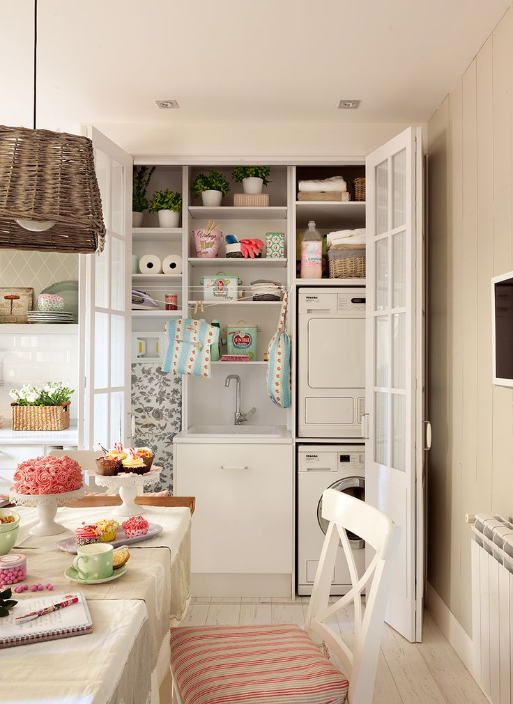 Las 25 mejores ideas sobre lavadora secadora armario en - Mueble lavadora secadora ...
