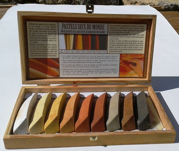 I love pastels, these ones are beautiful!        FRENCH HANDMADE PIGMENT Pastels Soft Dry Artists' Quality Natural Pigment Pastels Made from Earth Pigments