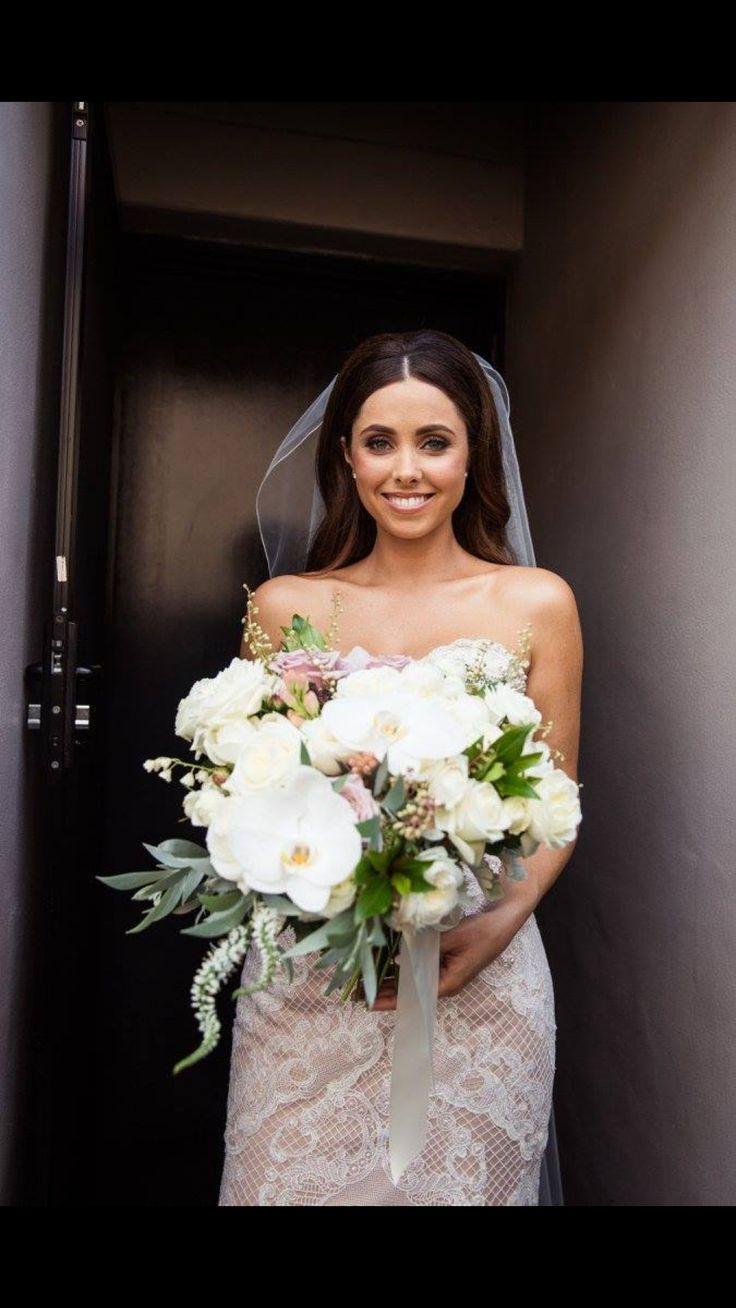 Bridal makeup Peonies  Roses Bridal bouquet Blush bouquet  Wedding  Watters bride
