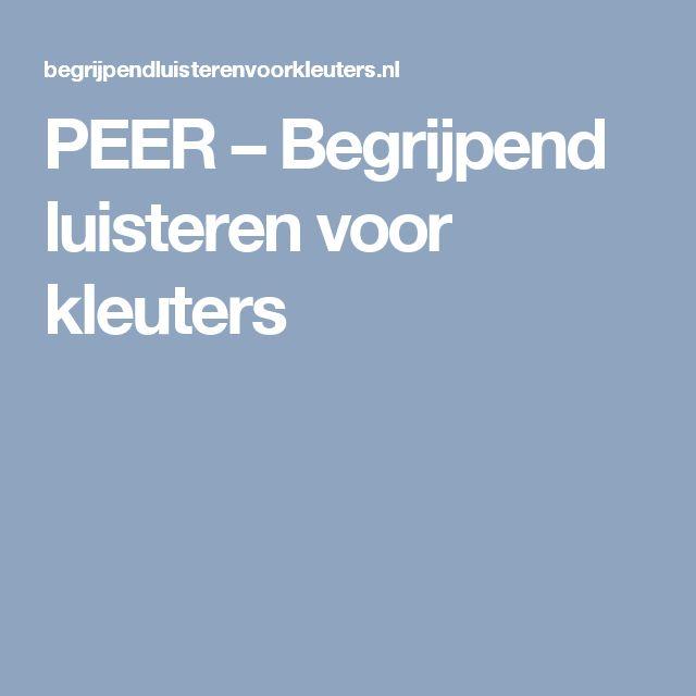 PEER – Begrijpend luisteren voor kleuters