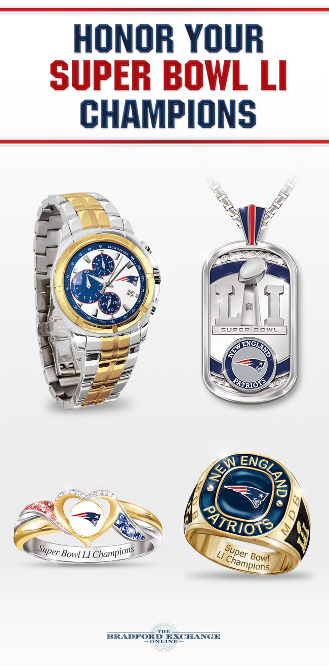 Celebrate your New England Patriots Super Bowl win with our selection of officially-licensed collectibles, jewelry and memorabilia. Don't miss this chance to keep the victory celebration going on for years to come.