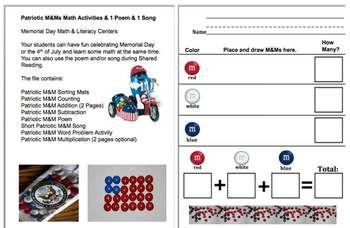 memorial day math activities
