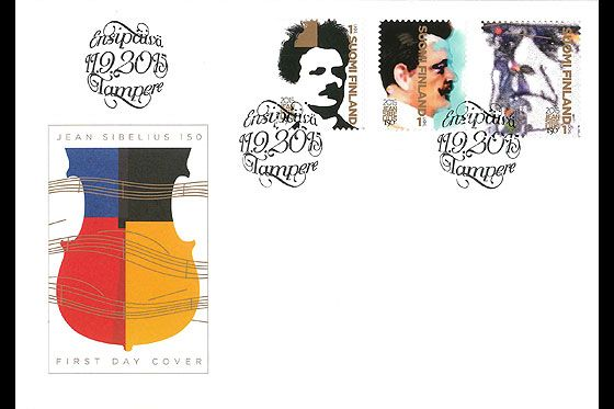 Jean Sibelius 150 Years First Day Cover