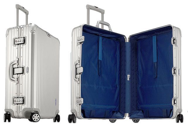 Rimowa Topas Aluminum Jumbo Trolley - this is the best suitcase I've ever owned - expensive but worth it.