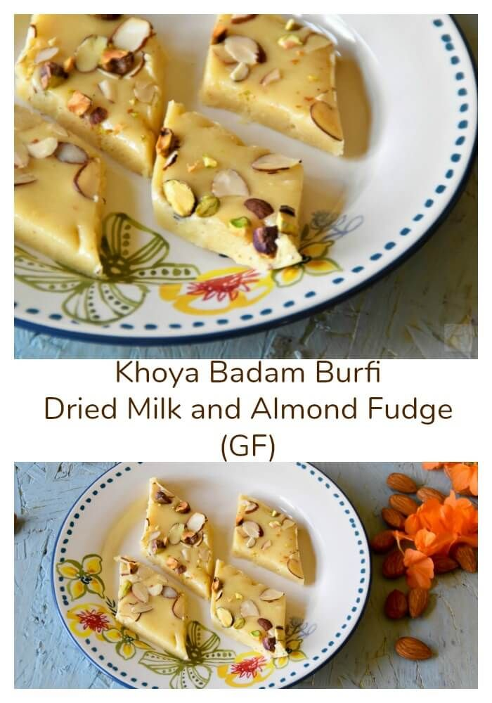 Khoya Badam Burfi Dried Milk And Almond Fudge Zesty South Indian Kitchen Almond Recipes Indian Food Recipes Dessert Recipes Easy