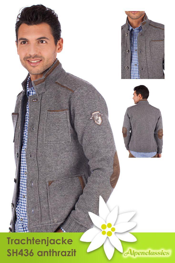 Die Trachtenjacke SH436 anthrazit von Stockerpoint besteht aus 100% Schurwolle Innenfutter 100% Polyester. Modern im schlichten Grau mit braunen Details ist sie einfach immer passend.