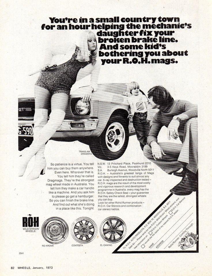 https://flic.kr/p/ZcxkE3 | 1973 ROH Mag Wheels HQ Holden Monaro GTS Aussie Original Magazine Advertisement