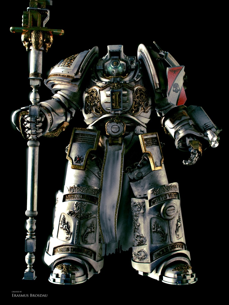"Grey Knight Terminator from the upcoming fan-made ""The Lord Inquisitor"" 3D film."