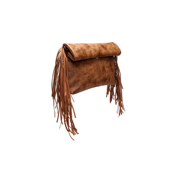 Yoins Brown Fashion Clutch Bag with Tassel Embellished ($35) ❤ liked on Polyvore featuring bags, handbags, clutches, brown purse, brown clutches, brown handbags, cross-body handbag and tassel handbags