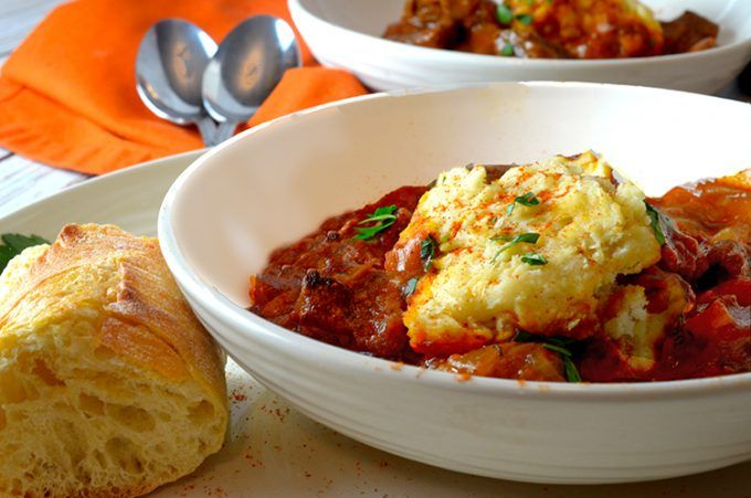 Simple Goulash Recipe with Steamed Dumplings by Platter Talk
