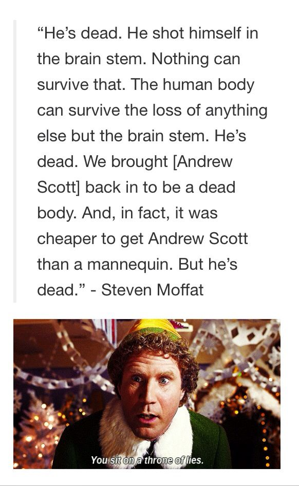Moffat quote about Moriarty being dead