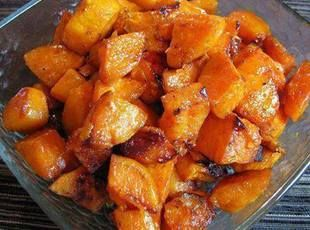 Roasted Sweet Potatoes Recipe. I accidentally used white sweet potatoes, and cut way back on the butter (only used 1tsp), but this was still great!