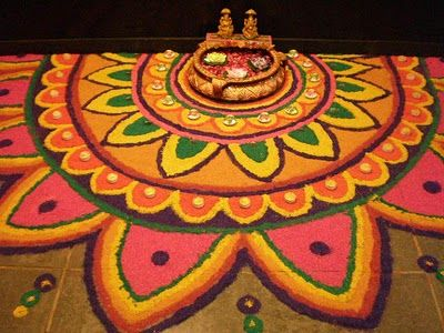 in love with food: DIWALI NOSTALGIA...Rangoli at work!