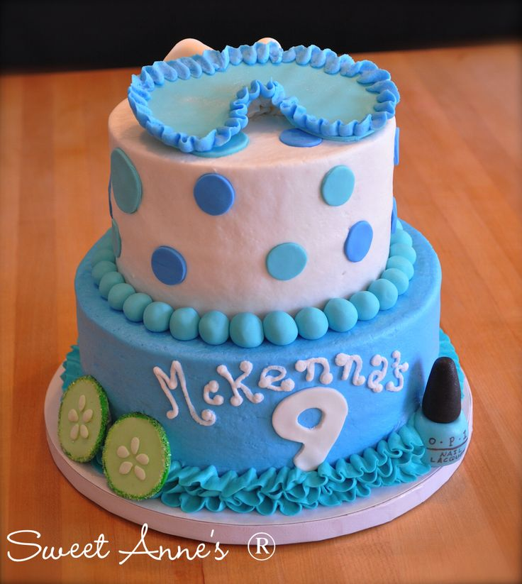 Spa party cake!