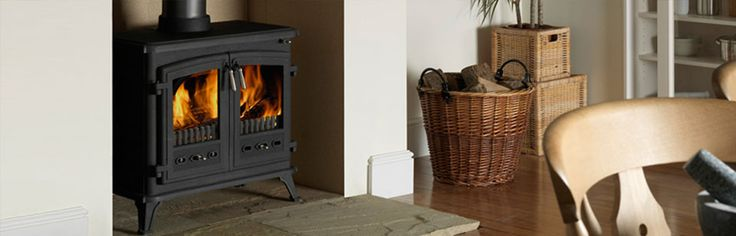 WESTCOTT 3000 RADIANT FIRES - With dual side opening doors and brushed steel handles, this radiant wood fire will make a statement in any room. #Heating #WoodFireHeating #RadiantFires #Masport #HearthHouse