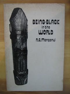 """""""In the 1970s and early 1980s Manganyi published a series of monographs, the first of which was Being-Black-in-the-World (1973), the last Looking Through the Keyhole (1981). In these works Manganyi examined incisively the effects of institutionalised racism on the internal worlds and external realities of South Africans. To this end, he explored a range of group & individual responses to the forms of institutionalised racism that characterised South Africa at the time, including alienation…"""