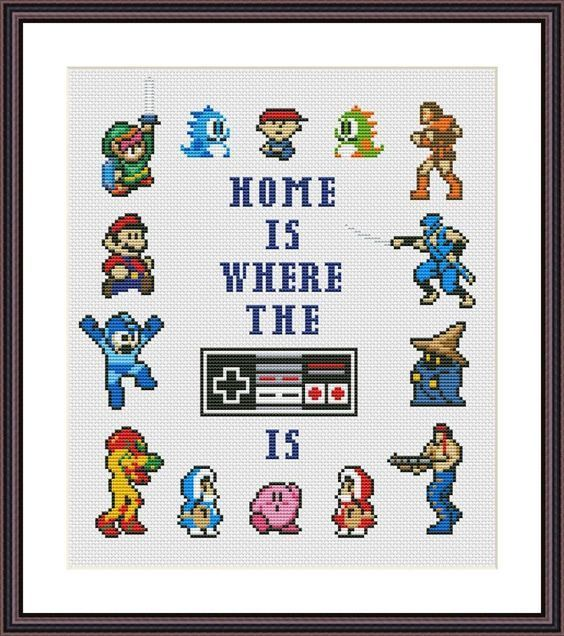 Home Is Where The NES Is Cross Stitch Pattern Craftsy