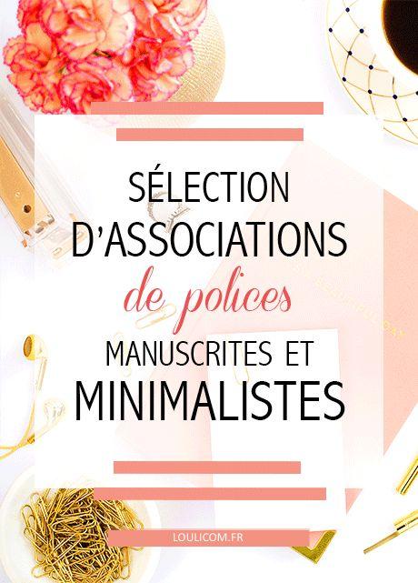Sélection d\'associations de polices manuscrites et minimalistes gratuites !