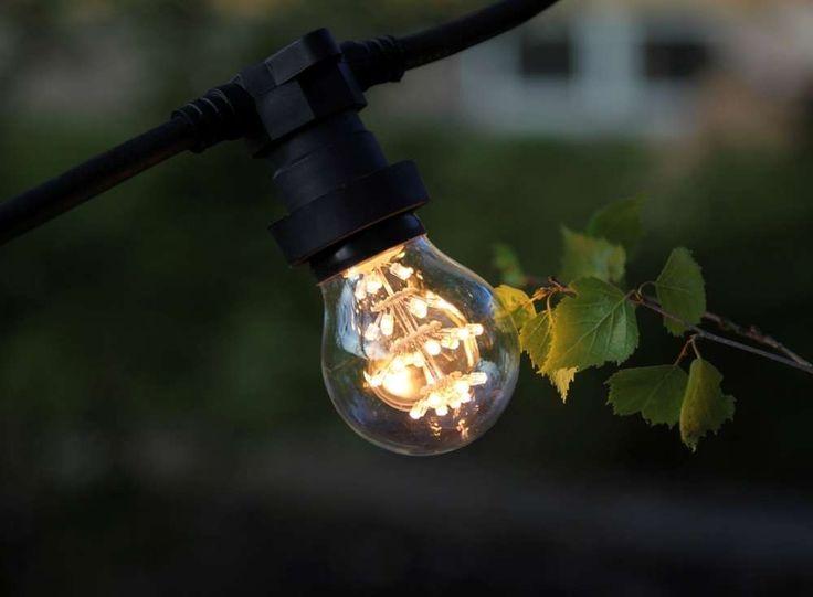 Kantakaapeli Partylight LED-koristelampuille 10xE27-pidintä. Pituus 7,35 m. Väri…